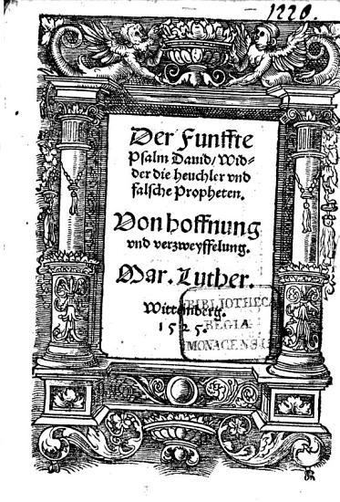 Der Funffte Psalm David  Widder die heuchler und falsche Propheten PDF
