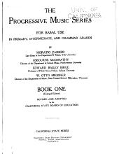 The Progressive Music Series for Basal Use in Primary, Intermediate, and Grammar Grades: Book 1
