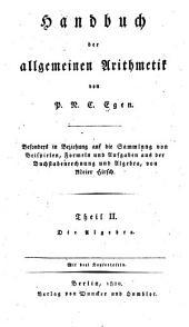 Handbuch der allgemeinen arithmetik: Band 2