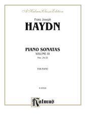Sonatas, Volume III (Nos. 24-33): For Piano