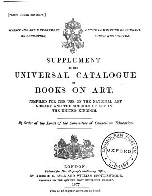 Supplement to the Universal Catalogue of Books on Art PDF
