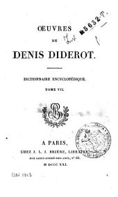 *Oeuvres completes de Diderot tome 1 [-26].: 19: Oeuvres de Denis Diderot. Dictionnaire Encyclopedique. Tome 7, Volume7