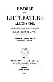 Histoire de la littérature allemande: d'après la 5e èd. de Heinsius