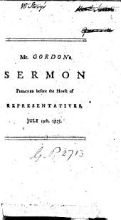 A sermon [on Jer. xxx, 20, 21] preached before the House of representatives, on the day intended for the choice of counsellors: Volume 6