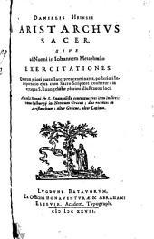 Aristarchus sacer: sive ad Nonni in Johannem metaphrasin exercitationes