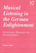 Musical Listening in the German Enlightenment