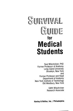 Survival Guide for Medical Students PDF
