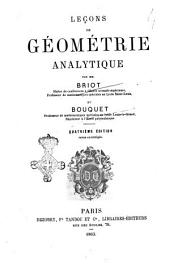 Lecons de geometrie analytique C. Briot, C. Bouquet