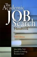 The Academic Job Search Handbook PDF