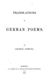 Translations of German poems