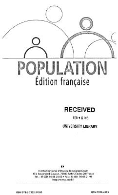 Population  revue bimestrielle PDF