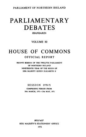 Parliamentary Debates  Hansard  House of Commons Official Report PDF