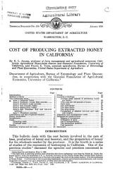 Cost of producing extracted honey in California: Volumes 651-675