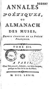 Annales poétiques ou almanach des muses