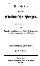 Archiv für die civilistische Praxis: Band 33