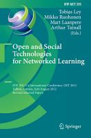 Open and Social Technologies for Networked Learning PDF