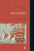 Philosophic Classics  Asian Philosophy PDF