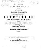 De legibus Aelia et Fufia commentatio
