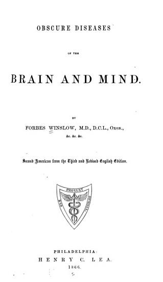 Obscure Diseases of the Brain and Mind PDF