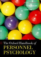 The Oxford Handbook of Personnel Psychology PDF