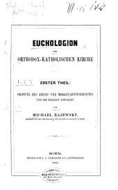 Euchologion der Orthodox-katholischen kirche aus dem griechischen original-text