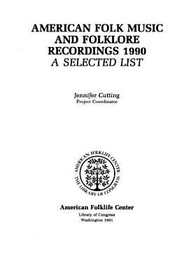 American Folk Music and Folklore Recordings PDF