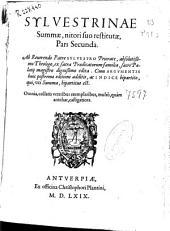 Sylvestrinae summae nitori suo restitutae: Pars Secunda