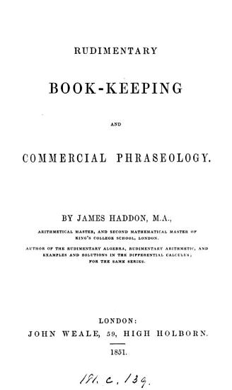 Rudimentary book keeping and commercial phraseology PDF