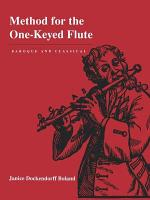 Method for the One Keyed Flute PDF