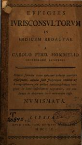 Effigies jurisconsultorum in indicem redactae