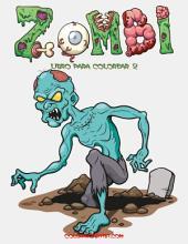Zombi libro para colorear 2