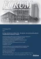 Forum f  r osteurop  ische Ideen  und Zeitgeschichte  18  Jahrgang  Heft 1  German language Edition  PDF