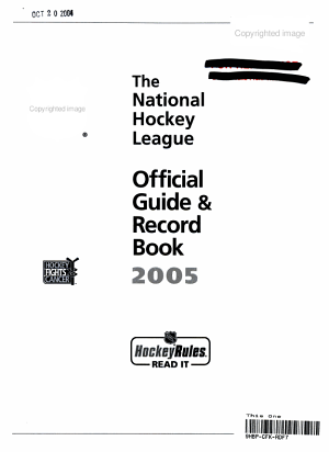 Nhl Official Guide And Record Book 2005 PDF
