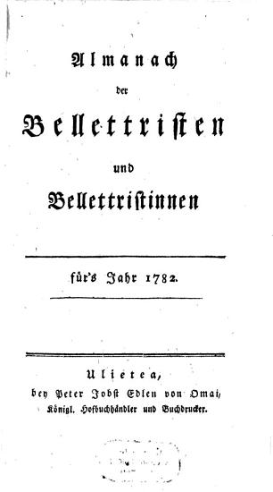 Almanach der Bellettristen und Bellettristinnen PDF