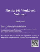 Physics 161 Workbook