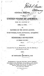 A General History of the United States of America; from the Discovery in 1492, to 1792