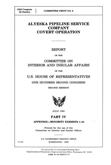 Alyeska Pipeline Service Company Covert Operation PDF