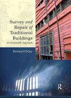 Survey and Repair of Traditional Buildings PDF