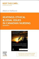 Ethical   Legal Issues in Canadian Nursing Elsevier Ebook on Vitalsource Access Code PDF