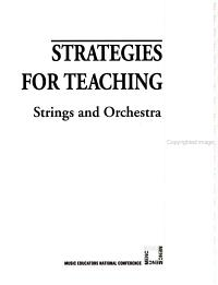 Strategies for Teaching Strings and Orchestra Book