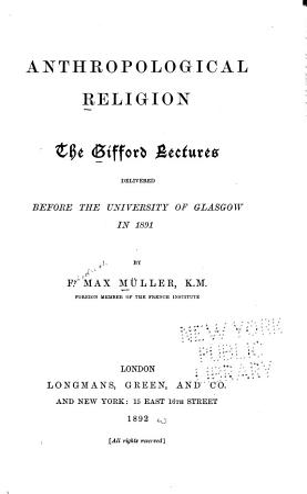 Anthropological Religion PDF
