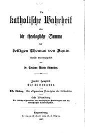 Die Katholische Wahrheit, oder die theologische Summa des heiligen Thomas von Aquin: Bände 5-6