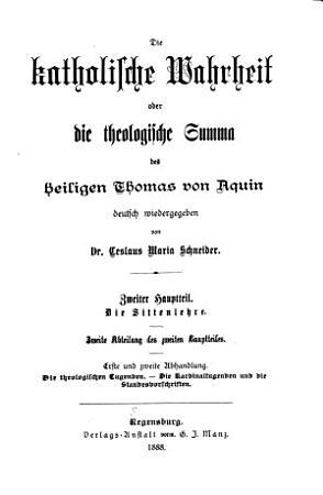 Die Katholische Wahrheit  oder die theologische Summa des heiligen Thomas von Aquin PDF