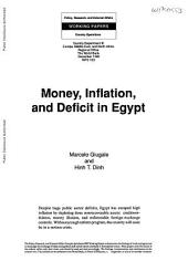 Money, Inflation, and Deficit in Egypt