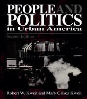 People   Politics in Urban America PDF