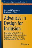 Advances in Design for Inclusion PDF