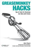 Greasemonkey Hacks PDF