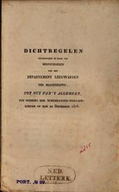 Dichtregelen uitgesproken in naam der bestuurderen van het departement Leeuwarden der Maatschappij Tot Nut van 't Algemeen, tot opening der winteravond-vergaderingen op den 20 December 1826