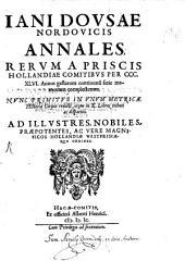 Annales rerum a priscis Hollandiae comitibus ... gestarum