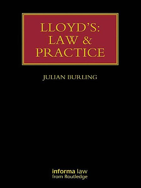 Download Lloyd s  Law and Practice Book